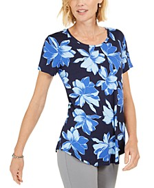Floral-Print Cotton T-Shirt, Created for Macy's