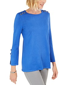 Embellished Scoop-Neck Top, Created for Macy's