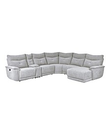 Talbot 6pc Right-Side Face Chaise Recliner Sectional Sofa