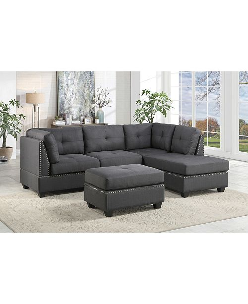 Alamo 2pc Sectional Sofa w/ Ottoman