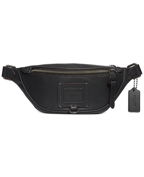 COACH Men's Rivington Leather Belt Bag