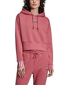 Women's Vocal Cotton 3-Stripe Cropped Hoodie