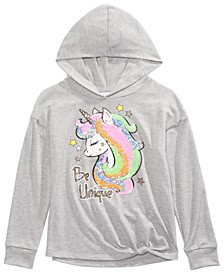 Big Girls Unique Flip Sequin Unicorn Hoodie Shirt