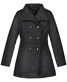 Big Girls Faux Wool Military Coat