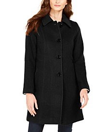Single-Breasted Club-Collar Coat