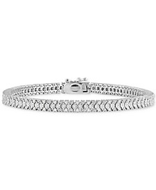 Diamond Link Bracelet (1 ct. t.w) in Sterling Silver