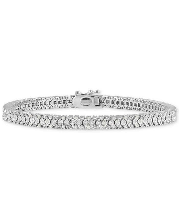 Macy's - Diamond Link Bracelet (1 ct. t.w) in Sterling Silver