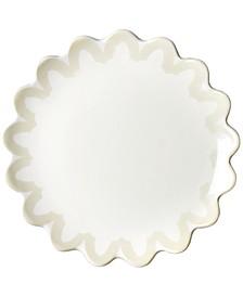 by Laura Johnson Ecru Arabesque Trim Scallop Edge Salad Plate