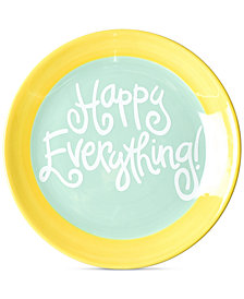 Coton Colors by Laura Johnson Mint Happy Everything! Dessert Plate