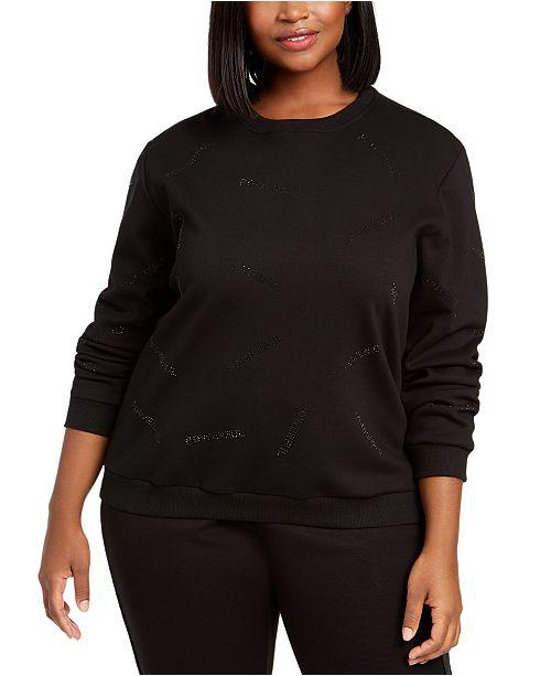 Lala Anthony Trendy Plus Size Embellished Sweatshirt