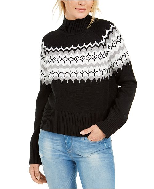 Tommy Hilfiger Mock-Neck Fairisle Sweater