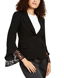Lace-Sleeve Blazer