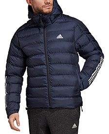 Men's 3-Stripe Hooded Puffer Jacket
