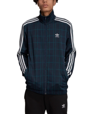 Adidas Originals Jackets ADIDAS MEN'S ORIGINALS PLAID TRACK JACKET