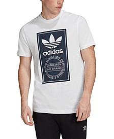 adidas Men's Originals Plaid-Logo T-Shirt