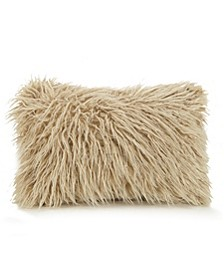 "Faux Fur Oblong 12"" x 18"" Decorative Pillow"