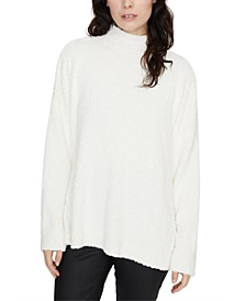 Teddy Turtleneck Tunic Sweater