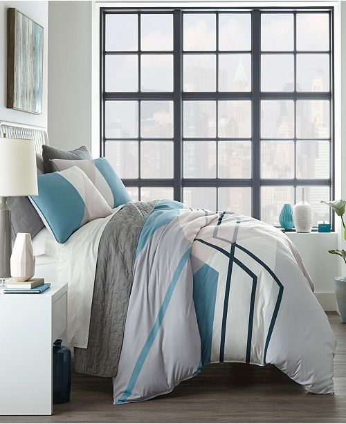 City Scene Thornton Twin Duvet Cover Set