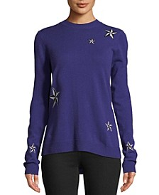 Cashmere Star-Print Sweater