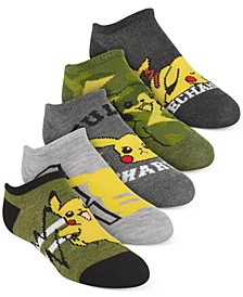 Pokémon Little Boys 5-Pk. No-Show Socks