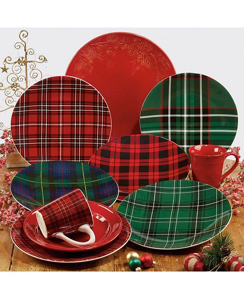 Certified International Christmas Plaid Collection
