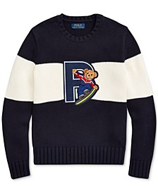 Big Boys Snowboard Bear Cotton Sweater, Created For Macy's