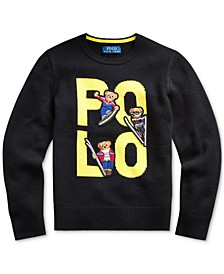 Big Boys Polo Bear Merino Wool Sweater