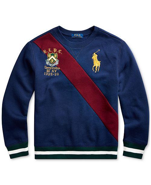 Polo Ralph Lauren Big Boys Fleece Graphic Sweatshirt