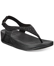 Skylar Crystal Toe-Thong Sandals