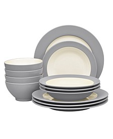 Colorwave  Rim 12-Piece Dinnerware Set, Service for 4, Created for Macy's