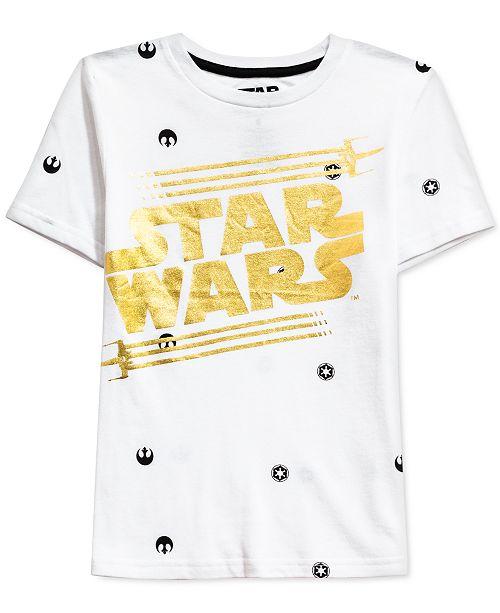 Star Wars Little Boys Metallic Logo T-Shirt