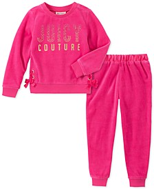 Toddler Girls 2-Pc. Velour Sweatshirt & Jogger Pants Set
