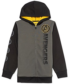 Big Boys Avengers Hero Symbols Colorblocked Hoodie