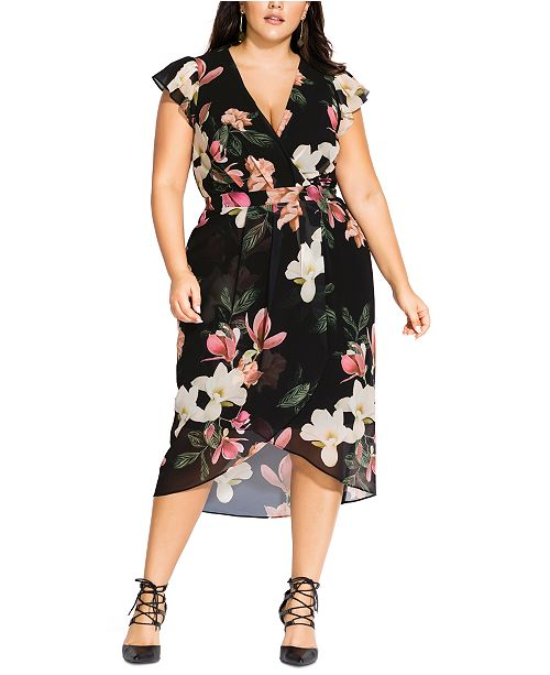 City Chic Trendy Plus Size Winter Jasmine Dress