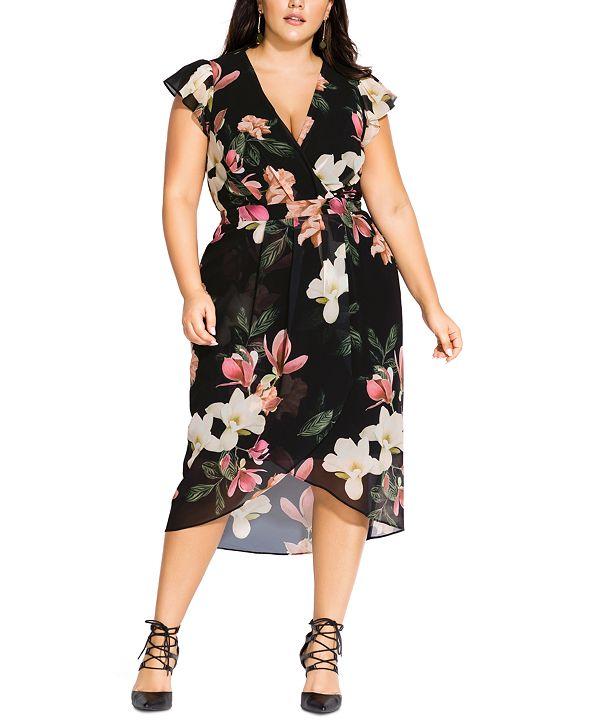 City Chic Trendy Plus Size Winter Jasmine Dress