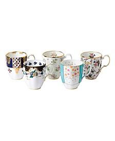100 Years 1900-1940 5-Piece Mug Set
