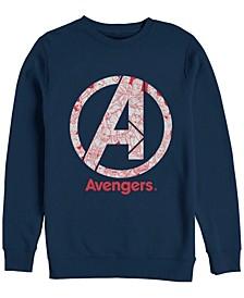 Men's Avengers Endgame Line Art Logo, Crewneck Fleece