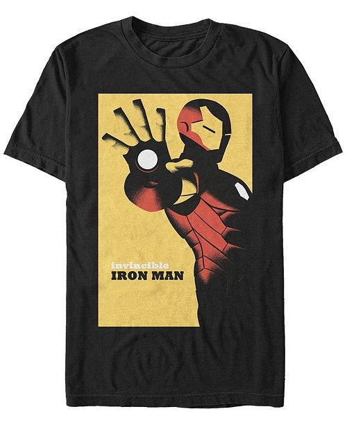 Marvel Men's Iron Man Invincible Poster, Short Sleeve T-shirt