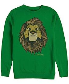 Men's Lion King Noble Simba, Crewneck Fleece