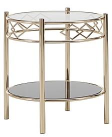 Metropolitan Tempered Glass Metal End Table