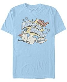 Men's Frozen Olaf Always Up for Adventure, Short Sleeve T-Shirt