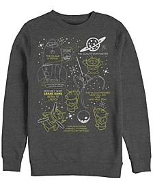 Pixar Men's Toy Story Aliens Claw Master Map, Crewneck Fleece
