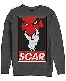 Men's Lion King Scar Poster, Crewneck Fleece
