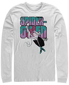 Men's Spider-Man Into the Spider-Verse Spider-gwen Swinging, Long Sleeve T-shirt