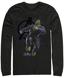 Men's Avengers Endgame Hulk Galaxy Jump, Long Sleeve T-shirt