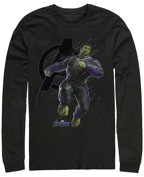 Marvel Men's Avengers Endgame Hulk Galaxy Jump, Long Sleeve T-shirt