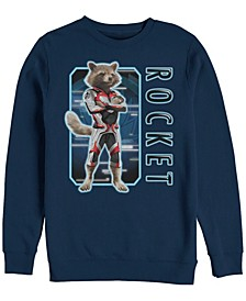 Men's Avengers Endgame Rocket Suit Up, Crewneck Fleece
