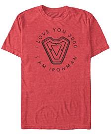 Men's Avengers Endgame Iron Man I Love You 3000, Short Sleeve T-shirt