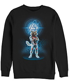 Men's Avengers End Game Rocket Armor Suit, Crewneck Fleece