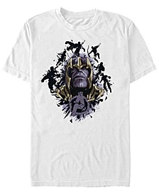 Men's Avengers Endgame Thanos in Action Big Face, Short Sleeve T-shirt